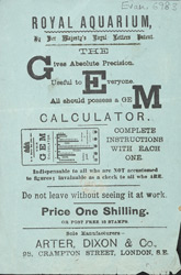 Advertisement for a calculator